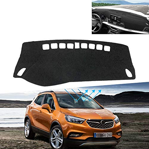 LUOERPI Auto Armaturenbrett Matte Abdeckung Anti-UV Sunshade Instrumententafel Pad Teppich,Für Opel/Für Opel Mokka/Mokka-X 2013-2019 LHD