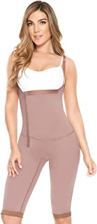 Fajate 11021 Women's Side Zipper Braless Suspender and Post Surgical for Tummy Tuck Body Garment, Nude