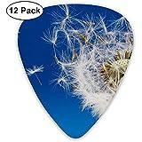 12 Pack Púas de guitarra Plectrums Dandelion Flying Celluloid Guitar Pick Set para guitarra eléctrica acústica Bass Mandolin Ukulele 0.46mm 0.71mm 0.96mm