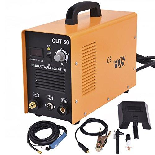Goplus CUT-50 Electric Digital Plasma Cutter Inverter 50AMP 110-220V Dual Voltage Welder Cutting...