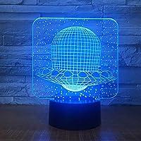 子供用3DイリュージョンランプLED 16色のタッチボタン装飾光学テーブル照明卓上スタンド