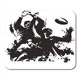 Not Applicable Tapis de Souris Encre Rugby Sport Dirt Drop Game Hommes Tapis de Souris pour Ordinateurs Portables, Ordinateurs de Bureau Tapis Fournitures de Bureau