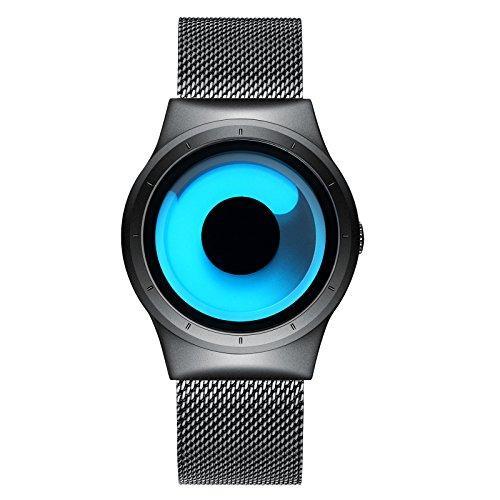 Reloj Impermeable para Hombre Océano Azul con Brazalete de Acero Inoxidable