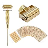 Sonda Agopuntura Orecchio Multifunzione Agopuntura Rullo di Massaggio Aghi Primaverili + 600 Pz Adesivo Monouso Acupiumi Perline Adesivo