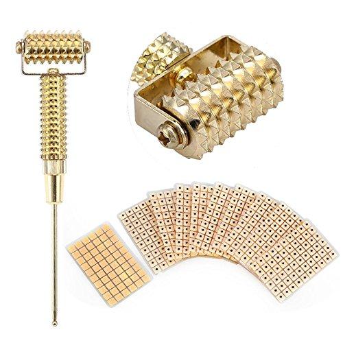 Brino Rouleau de massage avec sonde de points d'acupuncture multifonctionnelle pour oreille - 600 aiguilles d'acupuncture auriculaire