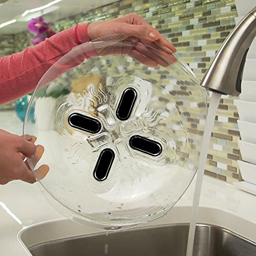 Mr. Gadget Solutions® Hover Cover Lori Greiner Lebensmittel-Spritzschutz Mikrowellen-Dampföffnungen eine Abdeckung
