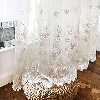 Best white floral drapes Reviews