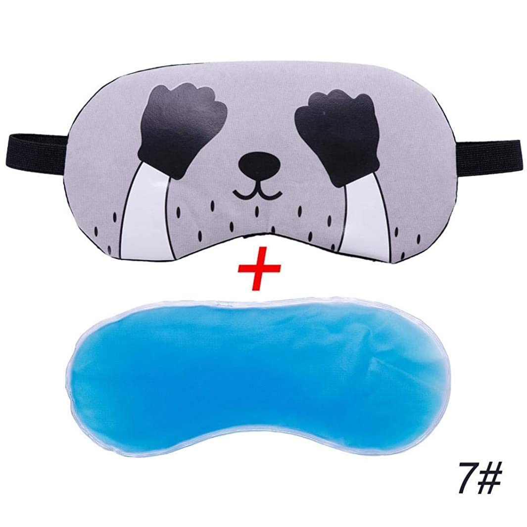 共和国欠乏付けるNOTE 1ピース漫画リラックスアイス圧縮アイシェード睡眠マスク包帯目の睡眠のためのアイシェード緩和疲労#280205