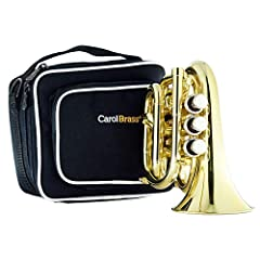 Smallest C key trumpet in the world. Please kindly note this is C-key version Yellow brass bell, stainless steel valves Easy to carry, Easy to play Play in tune, bright sound Gift for trumpet player