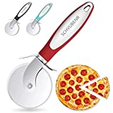 SCHVUBENR Premium Pizza Cutter - Stainless Steel Pizza Cutter Wheel - Easy to Cut and...
