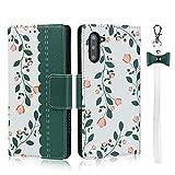 Happy-L Caso Samsung Galaxy Note 10, Note 10 Funda de Cuero, Estuche de Cartera de Estampado de Cuero PU con Ranuras para Tarjeta de Tarjeta y cordón (Color : Dark Green)