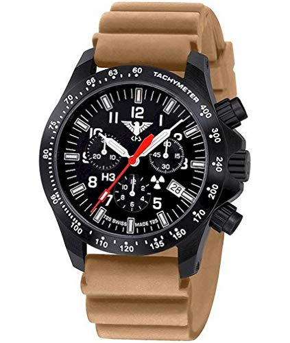 KHS Tactical Watches Black Platoon Chronograph LDR KHS.BPCLDR.DT Militär Armbanduhr