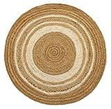 alfombra redonda yute blanca