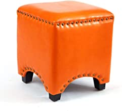 Yxsdd Change Shoe Stool Solid Wood Square Bench Small Pier Household Coffee Table Sofa Stool Fitting Room Leather Stool Mu...