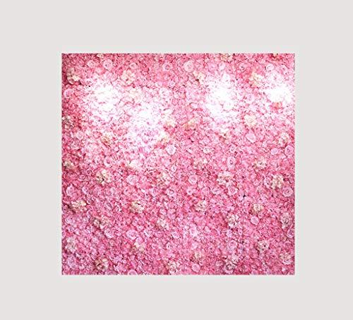 XEWNEG Blumenhintergrund Künstliche Blumen Wall Panels Hintergrund Hochzeit Innen Neugeborene Baby-Foto-Stütze (23.62x15.75 Zoll) (Color : A)