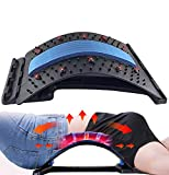 Back Stretcher with Magnetic Acupressure Points, Multi-Level Adjustable Back Massager Lumbar for Pain Relief Chronic Herniated Disc Sciatica Scoliosis Spinal Back Stretcher (Blue)
