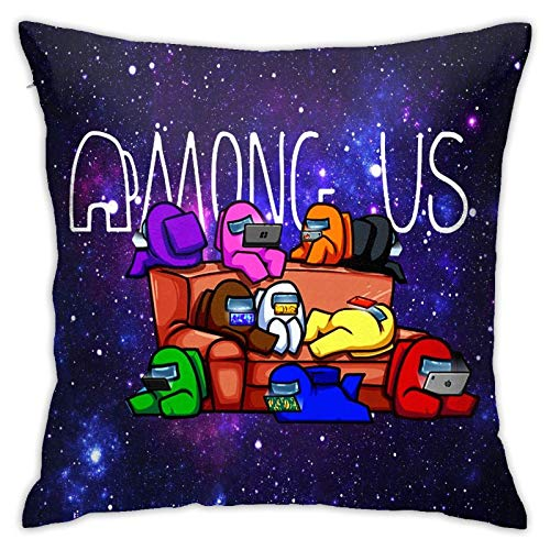 shenguang Am-ong-US Pillowcase,Decorative Pillowcases 3D Printing Pattern, Used for Sofa Or Bed Decoration - 18 X 18 in