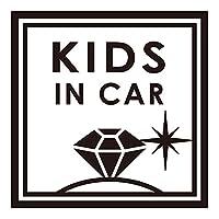 imoninn KIDS in car ステッカー 【シンプル版】 No.26 ダイアモンド (黒色)