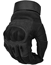 COTOP Motorcycle Gloves, Hard Knuckle Touch Screen Gloves Motorcycle Gloves Motorbike ATV Riding Full Finger Gloves for Men