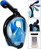 Bestlus Premium Full Face Snorkel Mask Foldable Version 3.0 Panoramic 180° View