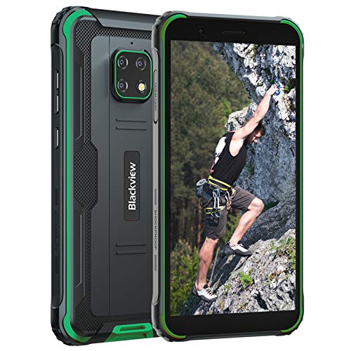 """Unlocked Phone Rugged, Blackview BV4900 Smartphone, Android 10 Cell Phone, 5580mAh 4G GSM Cell Phone, 5.7"""" HD+ Cellphones, 3GB+32GB Waterproof Unlocked Smartphone, NFC Rugged tmobile Phone"""