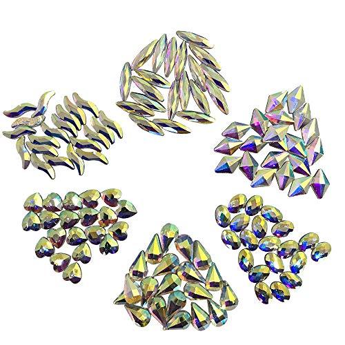 120 piezas de diamantes de imitación Flatback, gemas acíclicas de cristal de Sonku para la decoración de arte de uñas Decoración de bricolaje manualidades-6...