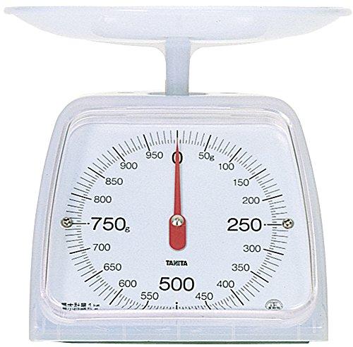 タニタ キッチンスケール はかり 料理 アナログ 1kg 5g単位 ホワイト KA-001 CW