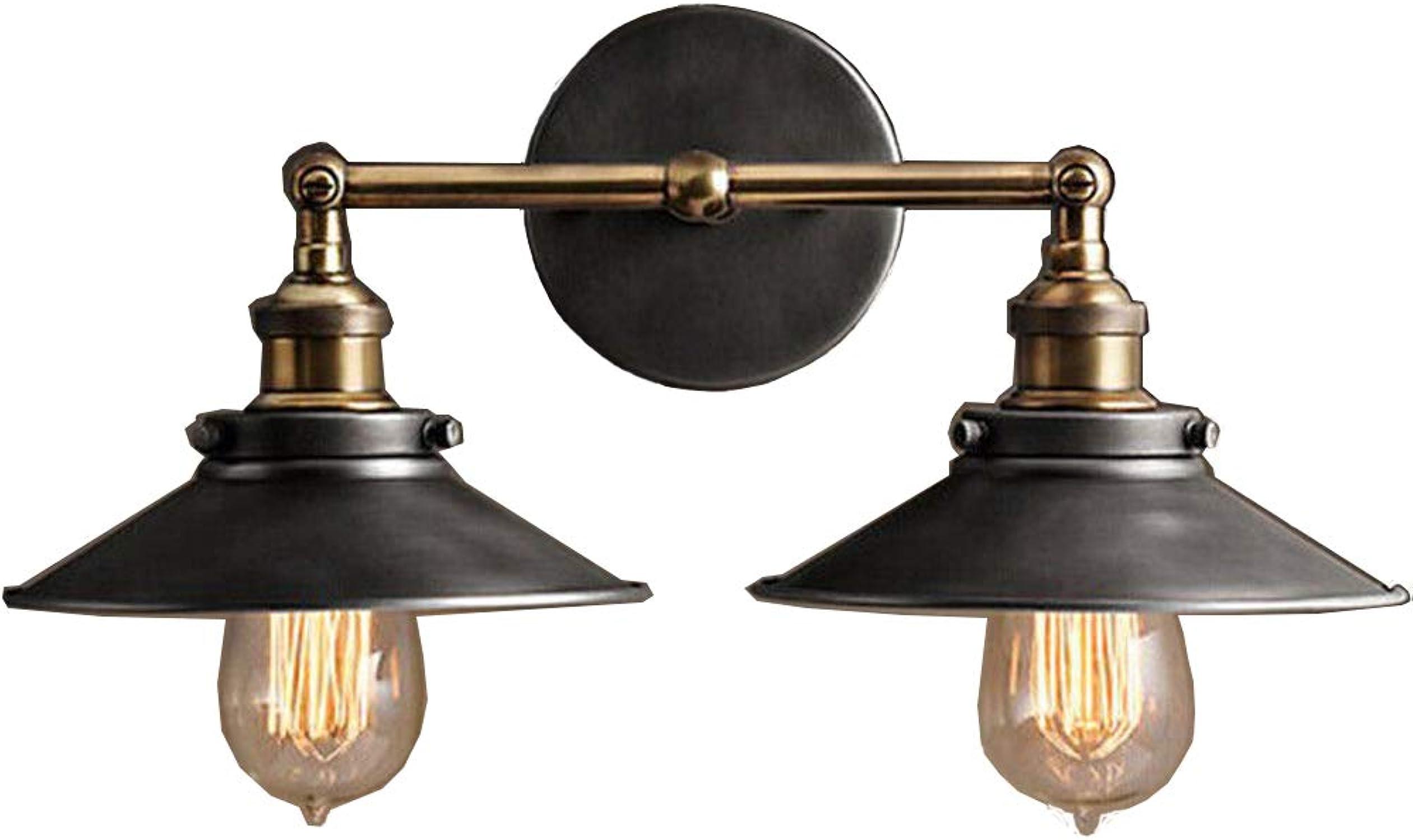 marcas en línea venta barata 2x 40W Edison Retro Antigua lámpara de de de parojo metal Vintage La Industria De 2Focos hsrl de W002  40% de descuento