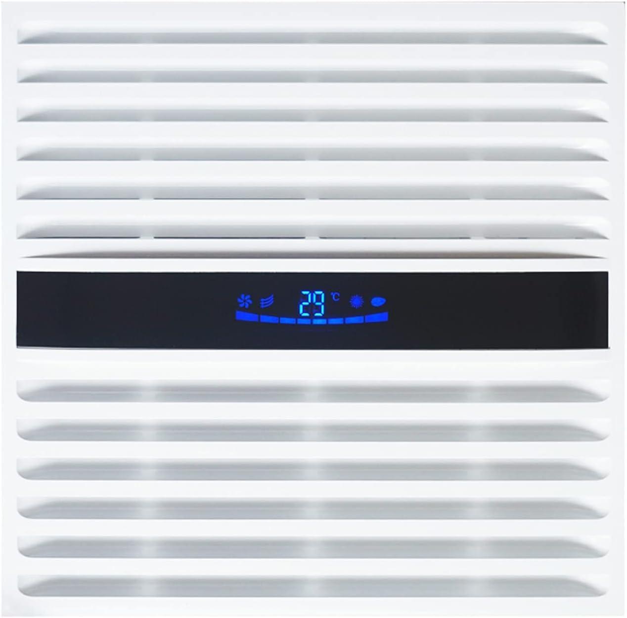 Ventilador extractor Ventilador de ventilación de alta potencia de techo integrado 30 * 3 0CM Potente ventilador de escape para la cocina y el techo del baño el ventilador de escape silencioso con LCD