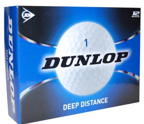 Dunlop Golfbälle 12 Pack Deep Distance, White