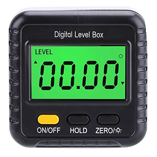 Hellery 2 * 90 ° LCD Digital Bisel Caja Medidor de ángulo Medidor de ángulo Inclinómetro Herramienta de Regla de Precisión