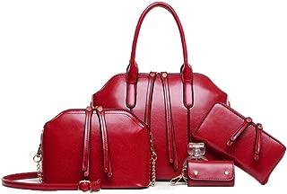 Handbags Female Bag Shoulder Portable 4-piece Retro Big Bag