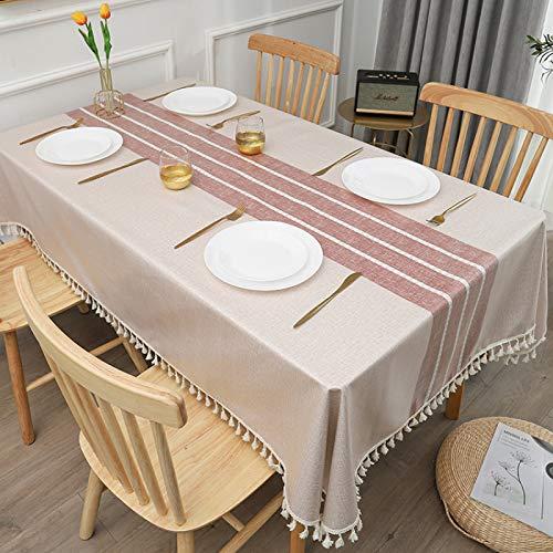 PhantasyIsland.com Mantel Antimanchas Diseño de Carta Rectangular Mantel, Transpirable, Aislamiento Térmico, Restaurante,Cocina, 110 * 170cm