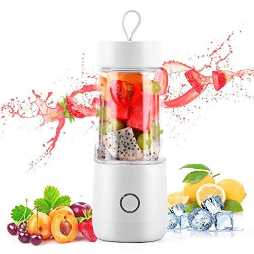 Portable Blender Personal Juicer Met USB Oplaadbare Draadloze Juicer Mini Mixer Met Cup Fruit Groentesap Blender,White