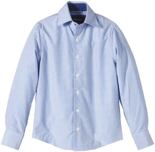 G.O.L. Jungen Hemd mit Eton-Kragen, Slimfit, Einfarbig, Gr. 158, Blau