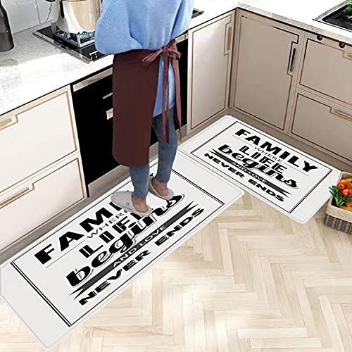 2 Piezas Alfombras Cocina Lavable Antideslizante Animal, artístico Retrato de un Blanco...