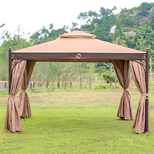 DNNAL Outdoor Gazebo, Courtyard Villa Shade Tent Leisure Mosquito, Rain And Sun Protection Sun Shed Pavilion