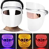 Máscara De Belleza Led, 3 Colores Máscara De Terapia De Luz Led Máscara Facial Antiarrugas Rejuvenecimiento De La Piel Dispositivo De Máscara De Belleza