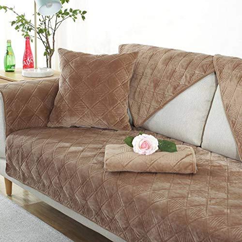 HOCOL korte pluche bankovertrek, dikke eenvoudig, modern, antislip, effen sofahoes, bescherming tegen meubels voor de woonkamer