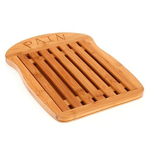Tabla de Cortar Pan de bambú - Rejilla Amovible
