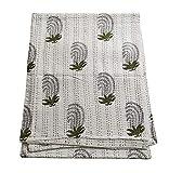 silkroude Handgefertigte, reine Baumwoll-Tagesdecke, Queen-Size-Steppdecke, Kantha-Überwurf, Kantha-Steppdecke, indischer Bettbezug, wendbar, Tagesdecke handgefertigt