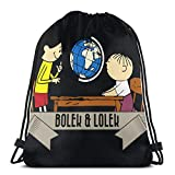 Anime & Bolek And Ek Drawstring Bag Sports Fitness Bag Travel Bag Gift Bag
