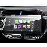 XQXSTORE Für Corsa-e/Corsa F MY20 2020, Auto Displayschutzfolie, 10 Zoll GPS Navigation Touch...