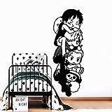 wZUN Dibujos Animados románticos Pegatinas de Pared a Prueba de Agua decoración de la habitación de los niños Artista decoración del hogar calcomanías Mural 28x78cm