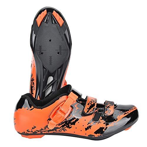 Alomejor Radfahren Schuhe Mountainbike Schuhe Anti Skid Sport Einstellbare Fahrrad Spinning Rennrad Schuh(39-Orange)