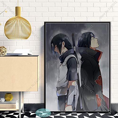 shuimanjinshan Plakat Naruto Uchiha Itachi Anime Manga Leinwand Malerei Poster und Drucke Wandkunst Bild für Wohnzimmer Home Decor 50x70cm 13