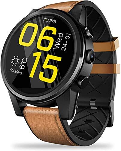 Reloj inteligente 4G con pantalla de cristal de 1,6 pulgadas, GPS/GLONASS Quad Core 16 GB 600 mAh, correa de piel híbrida para hombres y mujeres