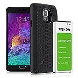 Galaxy Note 4recargable, yishda 7000mAh batería de iones de litio de repuesto para Samsung Galaxy Note 4con tapa trasera y funda protectora–18meses de garantía