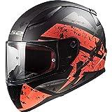 LS2 Helmets - FF353 - Rapid - Deadbolt Matt Black Red Single Visor