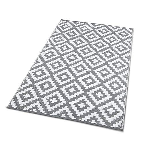 TERRE JARDIN Tapis extérieur rectangulaire réversible Blanc 120 x 180